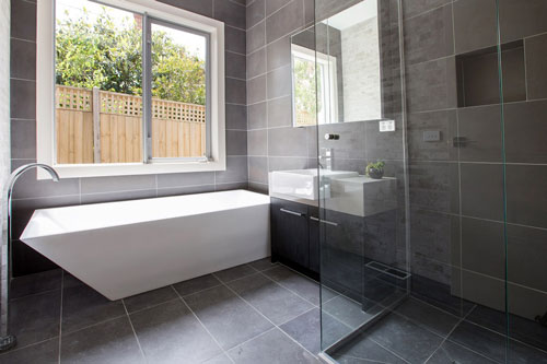 bluestone stone tile bathrooms modern design