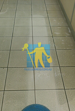porcelain tiles with before after cleaning with sx12 machine showing dirty and clean tiles melbourne