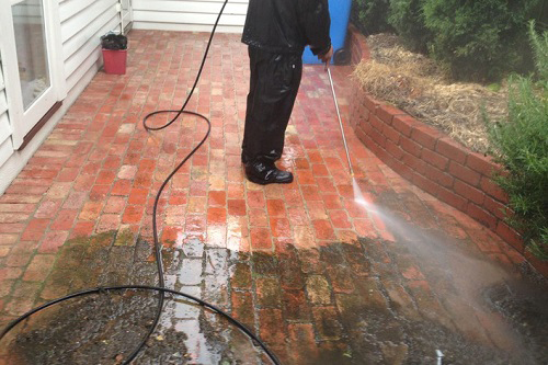 high pressure washing service to clean and repair tile