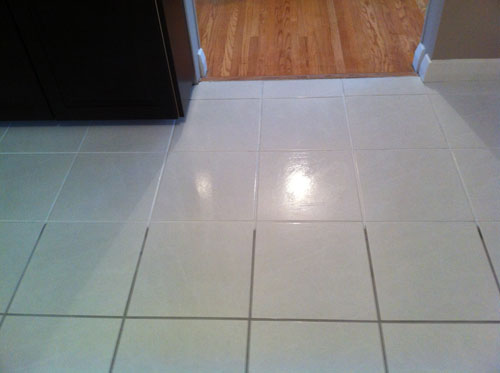 tile and grout sealing service before and after